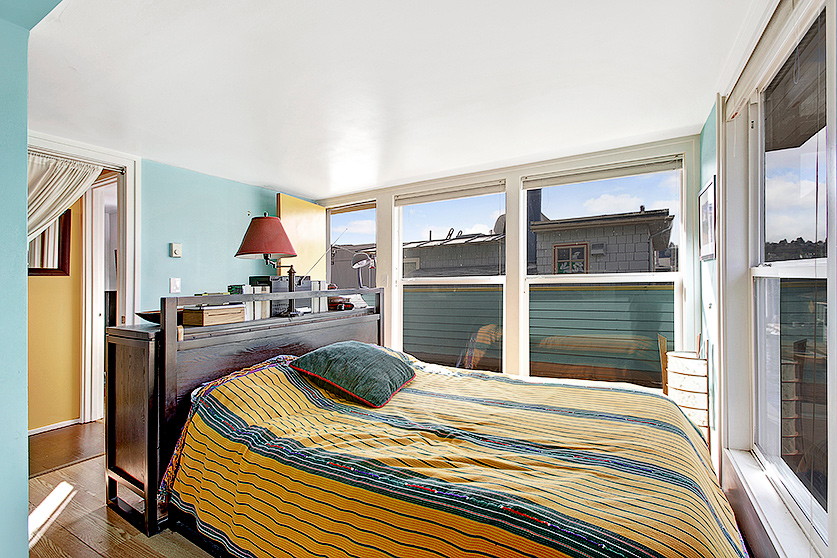 upstairs bedroom with great views